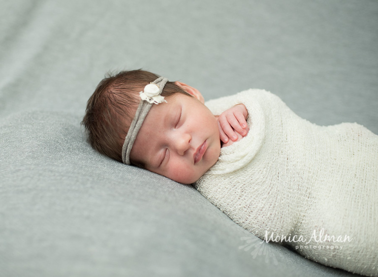 Twin Newborn Session Baby Wrapped Up Photo